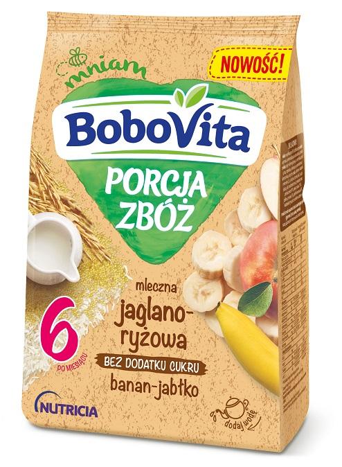BoboVita PORCJA ZBÓŻ mleczna jaglano-ryżowa banan-jabłko po 6. miesiącu życia